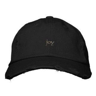 joy embroidered baseball caps