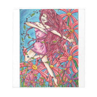 'Joy' - Fairy in the Flowers Notepad