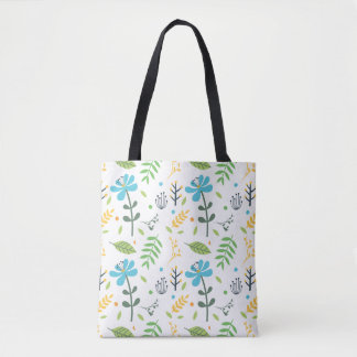 Joy Floral Tote Bag