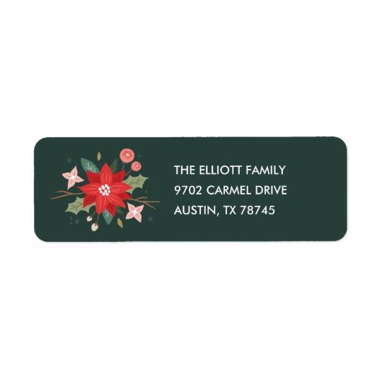Joy Flourish Address Label - Pine