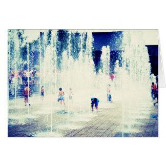 Joy Fountain Card