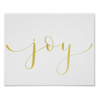 Joy- gold foil effect poster