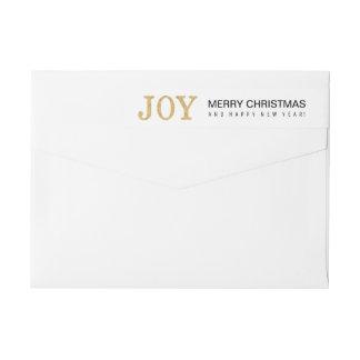 JOY (gold glitter) Wrap Around Label