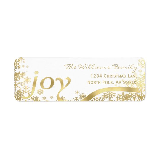 Joy Gold Snowflake Holiday Christmas