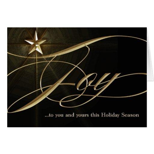 Joy Gold Star Christmas Card