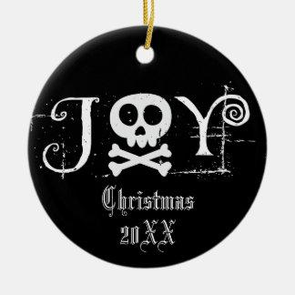 Joy Gothic Christmas Christmas Ornament