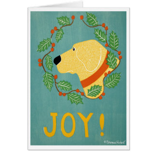 Joy Greeting Card - Stephen Huneck