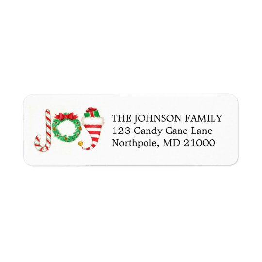 Joy Holiday Address Labels