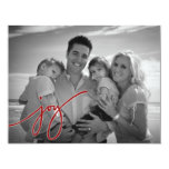 Joy Holiday Card Personalized Announcements