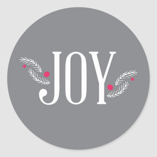 Joy Holiday Collection Round Sticker