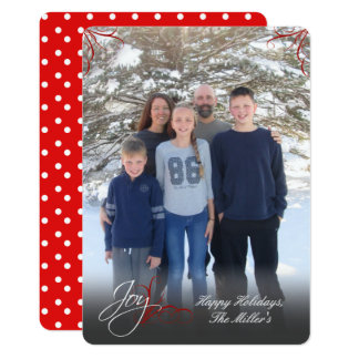 Joy! Holiday Photo Greeting Card