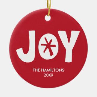 Joy Holiday Photo Ornament