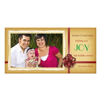 Joy - Holiday photocards Customised Photo Card