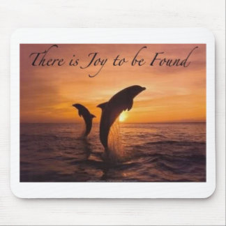 joy in the world of dolphins mouse mat
