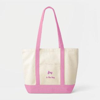 Joy is the key impulse tote bag