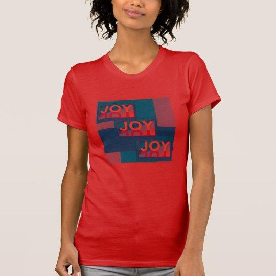 JOY JOY JOY Holiday Fashion Shirt-Red/Blue/Orange T-Shirt