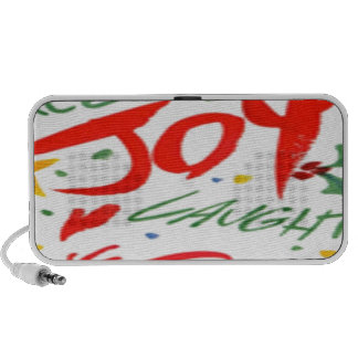 Joy Laughter and Smile Portable Speakers