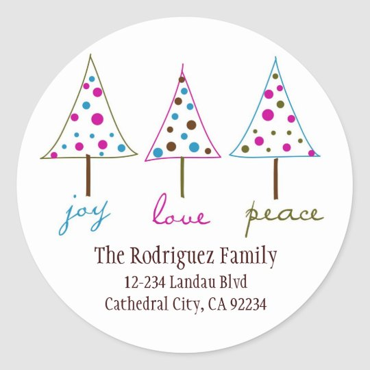 Joy, Love, Peace Address Labels