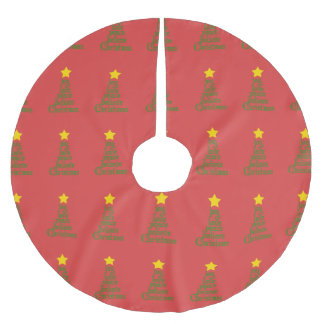 Joy, Love, Peace, Believe, Christmas Brushed Polyester Tree Skirt