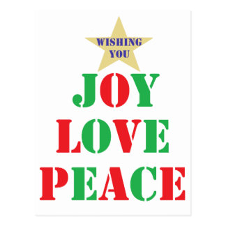 Joy, Love, Peace Postcard