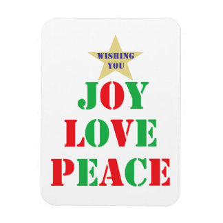 Joy, Love, Peace Rectangular Photo Magnet