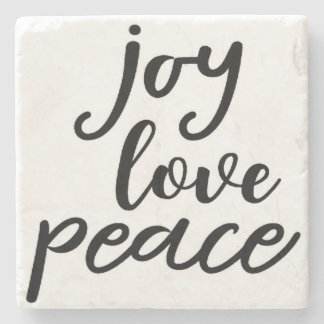 Joy, Love, Peace, Spiritual Coasters