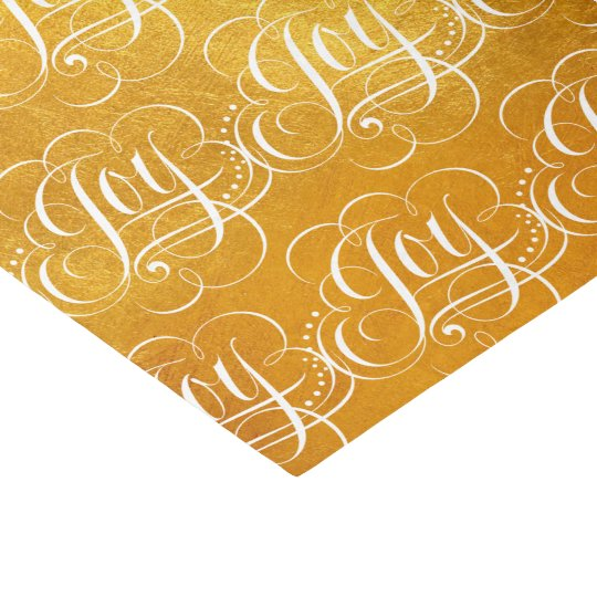 Joy - Luxurious Christmas Gold Faux Foil Tissue