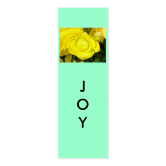 Joy Mini Bookmarks Double-Sided Mini Business Cards (Pack Of 20)