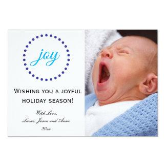Joy Minimalist Flat Photo Card 13 Cm X 18 Cm Invitation Card