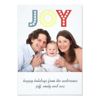 Joy Minimalist Holiday Photo Flat Cards 13 Cm X 18 Cm Invitation Card