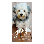 Joy - Modern Holiday Script Photo Card