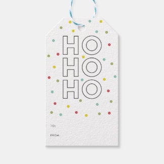 Joy Modern Typography Holiday Gift Tag