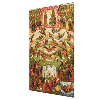 Joy of all who Sorrow Virgin, 1707 Canvas Print