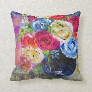 Joy Of Flowers Throw Pillow Original Artwork