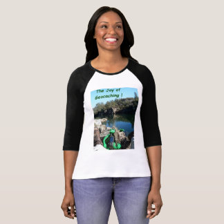 Joy of Geocaching T-shirt. Rocky river scene T-Shirt