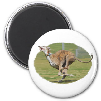 Joy of Running in Grass Oval 6 Cm Round Magnet