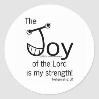 JOY of the Lord Classic Round Sticker