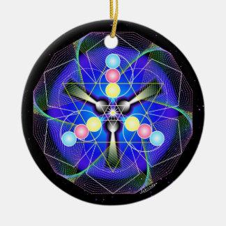 Joy of Vital Resonance Round Ceramic Decoration
