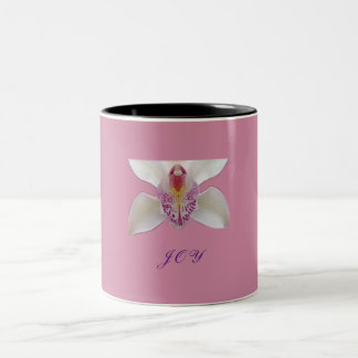 Joy Orchid Two-Tone Coffee Mug