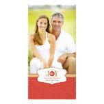 Joy ornament christmas customisable photo card
