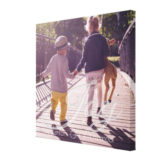 Joy Overlay   Personalized Family Canvas Print