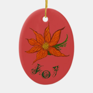 Joy & Peace Customisable Ceramic Oval Decoration