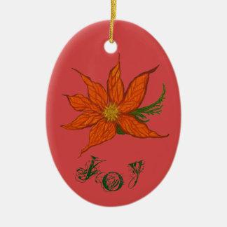 Joy & Peace Customizable Christmas Ornament