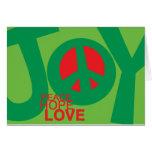 Joy, Peace, Hopeand, Love Holiday Card