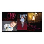 Joy Peace Love Collage Photo Card
