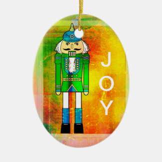 Joy + Peace Nutcracker - Oval Ornament