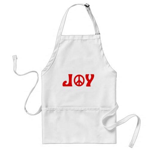 Joy Peace Sign Adult Apron