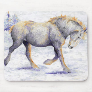 Joy - Percheron Horse  Mouse Pad