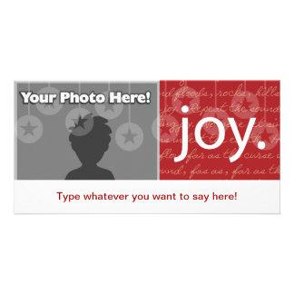 """""""Joy"""" Personalised Photo Card"""