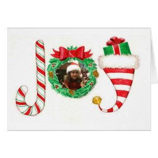 Joy Personalized Photo Christmas Card